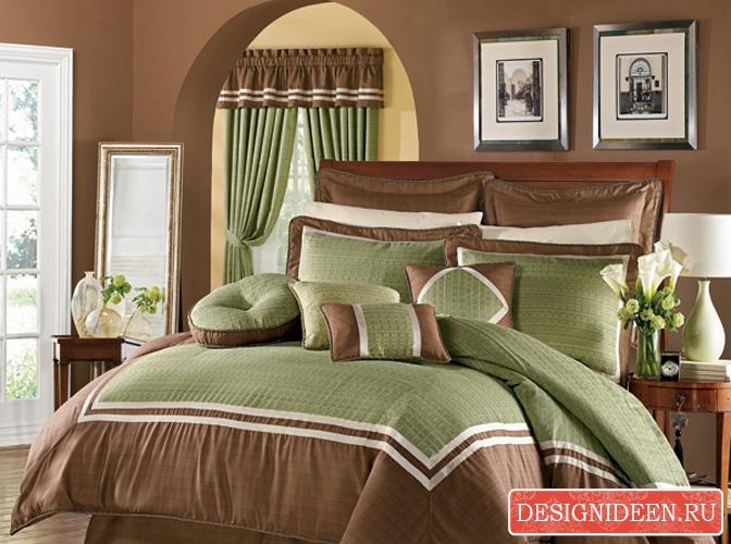 С какими цветами сочетается коричневый цвет в интерьере спальни