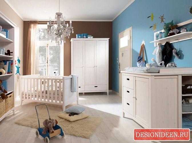Babyzimmer Blau Beige