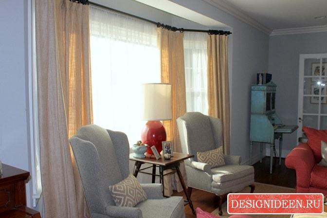 Шторы в зал: сочетаем с мебелью и обоями