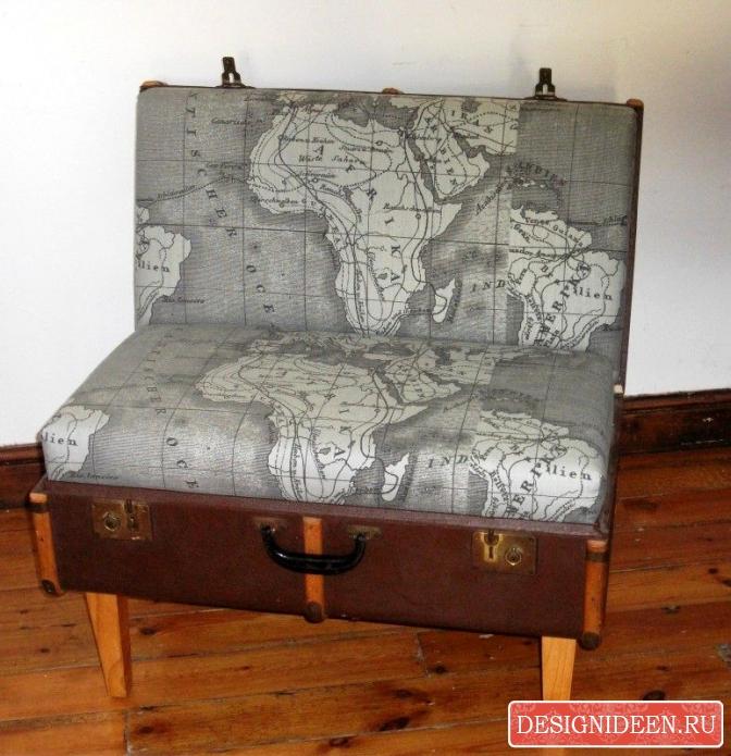 Старый бабушкин чемодан в качестве элемента интерьера