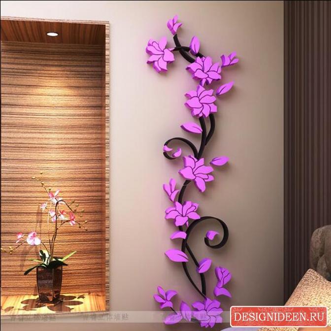 Самостоятельно украшаем стены в доме