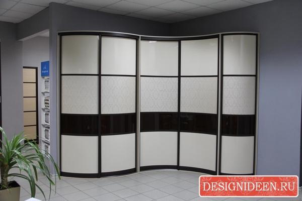 Основные виды шкафов-купе по форме изготовления