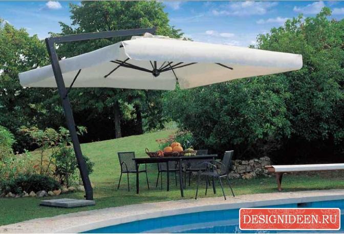 Как подобрать садовый зонт?