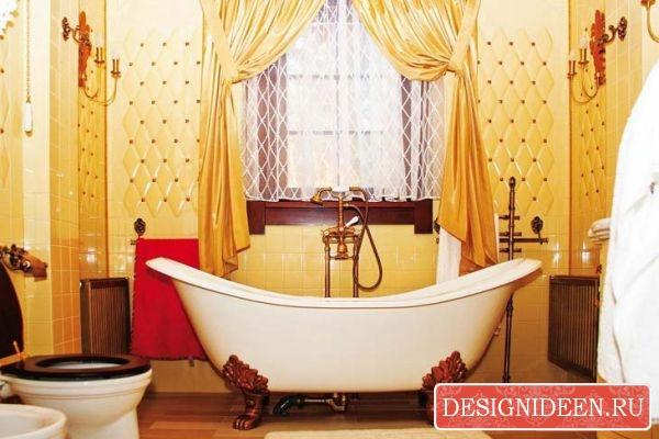 Классический викторианский дизайн в ванных комнатах